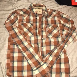 Hollister plaid button down size large!